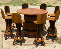 barrel-bar-set-four-chairs