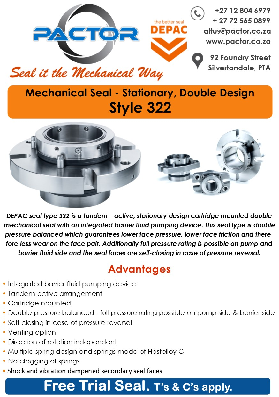 322 - Pactor Mechanical Seals Gaskets Pumps Victor Reinz