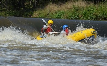 rapids at Paddle Power Adventures